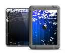 The Blue & White Rain Shimmer Strips Apple iPad Air LifeProof Fre Case Skin Set
