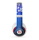 The Blue & White Rain Shimmer Strips Skin for the Beats by Dre Studio (2013+ Version) Headphones
