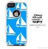 The Blue & White Sailboats Skin For The iPhone 4-4s or 5-5s Otterbox Commuter Case