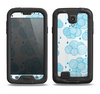 The Blue & White Seamless Ball Illustration Samsung Galaxy S4 LifeProof Fre Case Skin Set