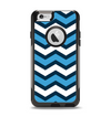 The Blue Wide Chevron Pattern Apple iPhone 6 Otterbox Commuter Case Skin Set