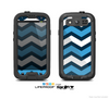 The Blue Wide Chevron Pattern Skin For The Samsung Galaxy S3 LifeProof Case