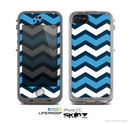 The Blue Wide Chevron Pattern Skin for the Apple iPhone 5c LifeProof Case