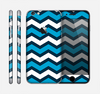 The Blue Wide Chevron Pattern Skin for the Apple iPhone 6