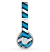 The Blue Wide Chevron Pattern Skin for the Beats by Dre Solo 2 Headphones