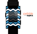 The Blue Wide Chevron Pattern Skin for the Pebble SmartWatch