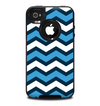 The Blue Wide Chevron Pattern Skin for the iPhone 4-4s OtterBox Commuter Case
