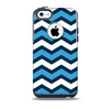 The Blue Wide Chevron Pattern Skin for the iPhone 5c OtterBox Commuter Case