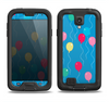 The Blue With Colorful Flying Balloons Samsung Galaxy S4 LifeProof Fre Case Skin Set