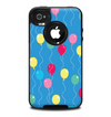The Blue With Colorful Flying Balloons Skin for the iPhone 4-4s OtterBox Commuter Case