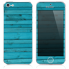 The Blue Wood Planks V6 Skin for the iPhone 3, 4-4s, 5-5s or 5c
