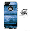 The Blue Wood Slabs Skin For The iPhone 4-4s or 5-5s Otterbox Commuter Case