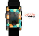 The Blue & Orange Abstract Polka Dots Skin for the Pebble SmartWatch