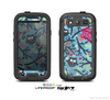 The Blue and Black Branches with Abstract Big Eyed Owls Skin For The Samsung Galaxy S3 LifeProof Case