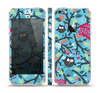 The Blue and Black Branches with Abstract Big Eyed Owls Skin Set for the Apple iPhone 5