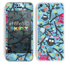 The Blue and Black Branches with Abstract Big Eyed Owls Skin for the Apple iPhone 5c