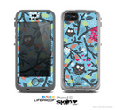 The Blue and Black Branches with Abstract Big Eyed Owls Skin for the Apple iPhone 5c LifeProof Case