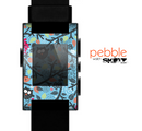 The Blue and Black Branches with Abstract Big Eyed Owls Skin for the Pebble SmartWatch