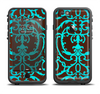 The Blue and Brown Elegant Lace Pattern Apple iPhone 6/6s LifeProof Fre Case Skin Set