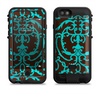 the blue and brown elegant lace pattern  iPhone 6/6s Plus LifeProof Fre POWER Case Skin Kit