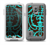The Blue and Brown Elegant Lace Pattern Skin Samsung Galaxy S5 frē LifeProof Case