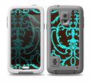 The Blue and Brown Elegant Lace Pattern Skin for the Samsung Galaxy S5 frē LifeProof Case