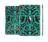 The Blue and Brown Elegant Lace Pattern Skin Set for the Apple iPad Mini 4