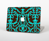 The Blue and Brown Elegant Lace Pattern Skin for the Apple MacBook Pro 13""