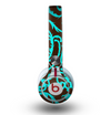 The Blue and Brown Elegant Lace Pattern Skin for the Beats by Dre Mixr Headphones