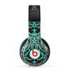 The Blue and Brown Elegant Lace Pattern Skin for the Beats by Dre Pro Headphones