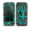The Blue and Brown Elegant Lace Pattern Skin for the iPod Touch 5th Generation frē LifeProof Case