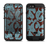 The Blue and Brown Paisley Pattern V4 Apple iPhone 6/6s LifeProof Fre POWER Case Skin Set