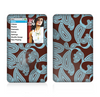 The Blue and Brown Paisley Pattern V4 Skin For The Apple iPod Classic