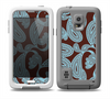 The Blue and Brown Paisley Pattern V4 Skin for the Samsung Galaxy S5 frē LifeProof Case