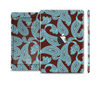 The Blue and Brown Paisley Pattern V4 Skin Set for the Apple iPad Mini 4