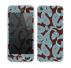 The Blue and Brown Paisley Pattern V4 Skin for the Apple iPhone 5s