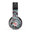 The Blue and Brown Paisley Pattern V4 Skin for the Beats by Dre Pro Headphones