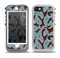 The Blue and Brown Paisley Pattern V4 Skin for the iPhone 5-5s OtterBox Preserver WaterProof Case