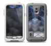 The Blue and Gray 3D Cubes Skin for the Samsung Galaxy S5 frē LifeProof Case