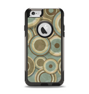 The Blue and Green Overlapping Circles Apple iPhone 6 Otterbox Commuter Case Skin Set