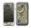 The Blue and Green Overlapping Circles Skin for the Samsung Galaxy S5 frē LifeProof Case