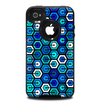 The Blue and Green Vibrant Hexagon Skin for the iPhone 4-4s OtterBox Commuter Case
