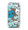 The Blue and Pink Vector Faced Cats Apple iPhone 5c Otterbox Symmetry Case Skin Set