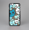 The Blue and Pink Vector Faced Cats Skin-Sert Case for the Apple iPhone 6 Plus