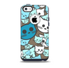 The Blue and Pink Vector Faced Cats Skin for the iPhone 5c OtterBox Commuter Case