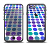 The Blue and Purple Strayed Polkadots Apple iPhone 6/6s LifeProof Fre Case Skin Set