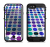The Blue and Purple Strayed Polkadots Apple iPhone 6/6s LifeProof Fre POWER Case Skin Set