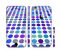 The Blue and Purple Strayed Polkadots Sectioned Skin Series for the Apple iPhone 6s