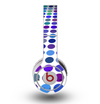 The Blue and Purple Strayed Polkadots Skin for the Original Beats by Dre Wireless Headphones