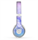 The Blue and Purple Translucent Glimmer Lights Skin for the Beats by Dre Solo 2 Headphones